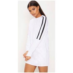 PrettyLittleThing Sport Stripe Hoodie dress